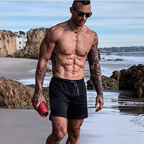 XDSP Pantalón Corto para Hombre,Pantalones Cortos Deportivos para Correr 2 en 1 con Compresión Interna y Bolsillo para Hombres (L)