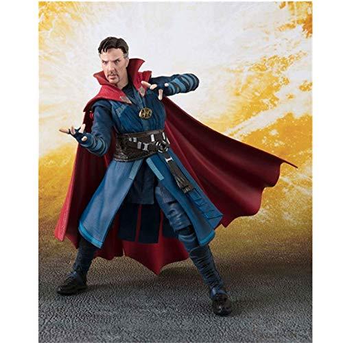 Xiao Jian- Doctor Strange Double Alliance Avengers 3 Infinite War Dr. Singular PVC Modelo de Juguete para niños Muñeca Mano Modelo Alto 15 cm Modelo de Juguete