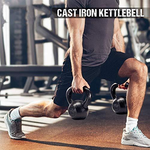 XNDCYX Pesa Rusa Hierro Fundido 4-16 KG, Kettlebell Musculación Fitness Ejercicio, Ideal para Entranamiento De Musculación Crosstraining, Equipo De Uso Múltiple,14KG/30.9LB