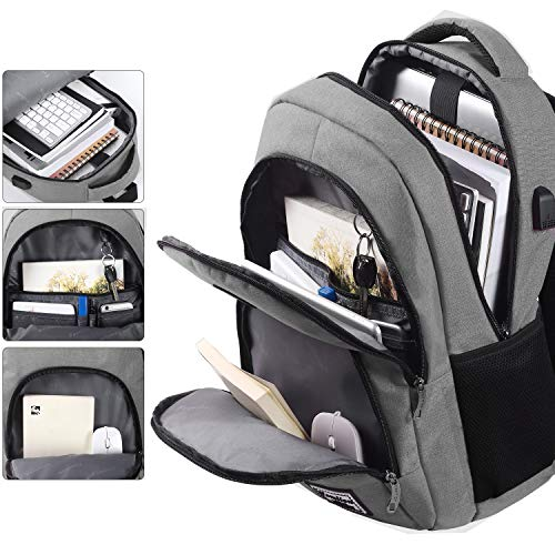 YAMTION Mochila para Ordenador Mochila Hombre con USB Puerto de Carga para Escolar Trabajo Viajes 35L
