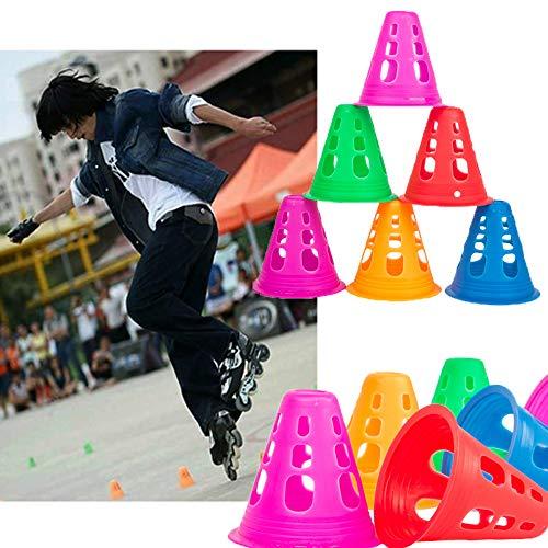 YAVO-EU Conos Deportivos 50 PCS Cono de Marcador Conos de Slalom Patinaje Entrenamiento del Sombrero Gorra de Futbol Entrenamiento Deportivo