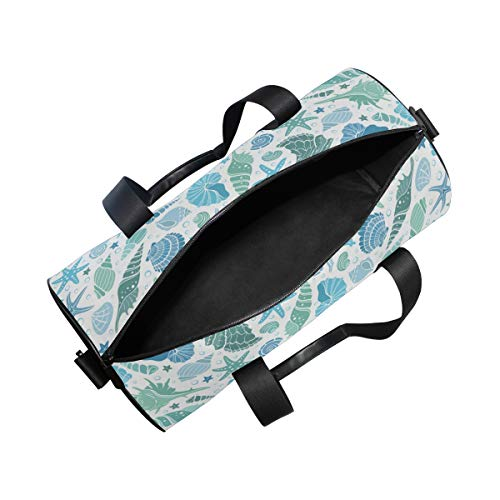 YCHY Gym Bag,Bolsa de Deporte Horario de Verano Banner Horizontal Dibujado a Mano,Nuevo Cubo con Estampado de Lienzo Bolsa de Deporte Bolsas de Fitness Bolsa de Viaje de Lona