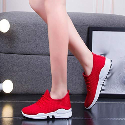 Yesmile Zapatos de mujer❤️Zapatos Las Mujeres Que Ejecutan a los Entrenadores ataviar Plano Cómodo Gimnasio Deportivo Zapatos Deportivos Zapatos Casuales