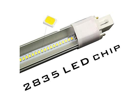 YinzPlus Pack de 2 G23 LED Bombilla 8 Watt Blanco Natural 4000K 800 Lúmenes Ra 90 Enchufar 2 Clavija PL CFL Lámpara LED Bombilla Compacta G23 LED Tubo Luz Para Iluminación Interior