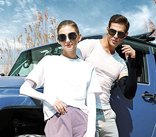 YMHPRIDE 6 pares Brazo refrigerante de manga Brazalete largo Banda elástica Transpirable Deportes al aire libre Protección UV Guantes para, conducción, correr, baloncesto