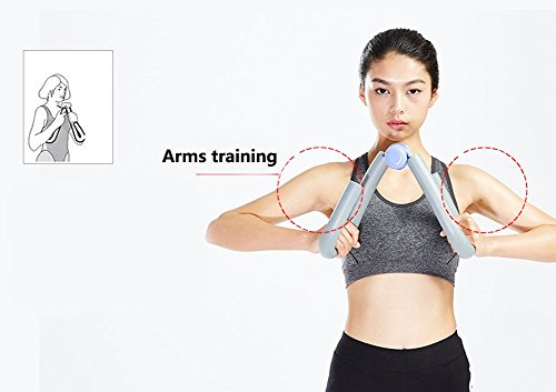 YNXing - Ejercitador de muslos, moldea, adelgaza y tonifica los muslos, los glúteos, los brazos y las piernas, equipo de gimnasio en casa para perder peso - B074CXLDHN, 1, Azul