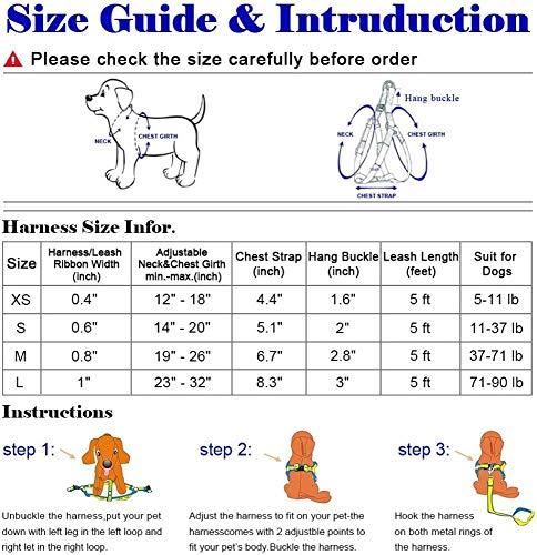 YPSMLYY Cuerda De Tracción para El Pecho del Perro Mascota Correa Ajustable para El Arnés del Perro para El Pecho Y La Espalda De La Mascota,A-L