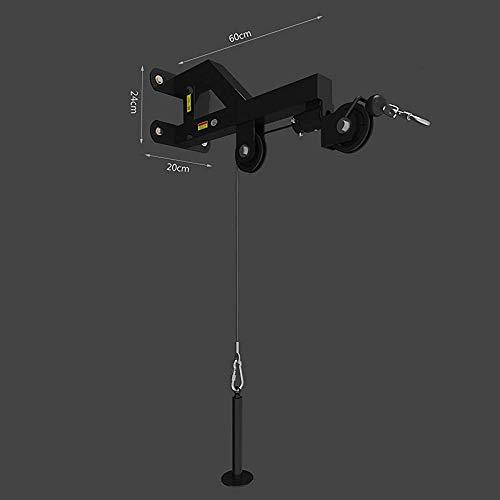 YYF Montado en la Pared Estación polea del Cable de la máquina Lat bajadas de extracción, tríceps Extensiones, tríceps bajadas de extracción y Todos los Cables de la máquina Ejercicios,Black