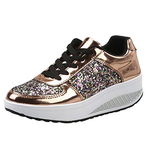 Zapatillas de deporte de mujer, Covermason Ladies Sequins Shake Sneakers