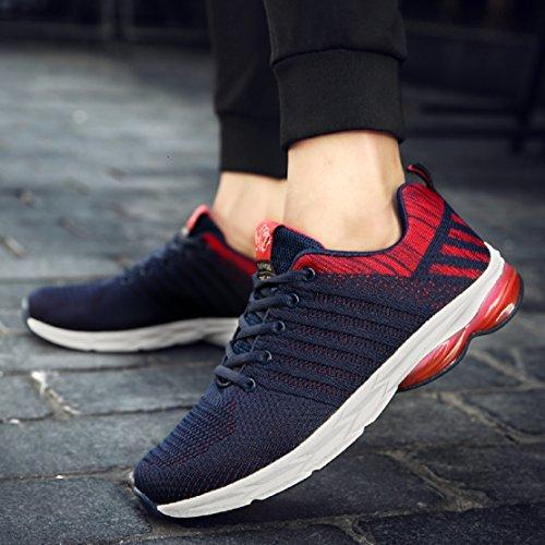 ZapatillasRunningpara Hombre Aire Libre y Deporte Transpirables Casual Zapatos Gimnasio Correr Sneakers Azul 39