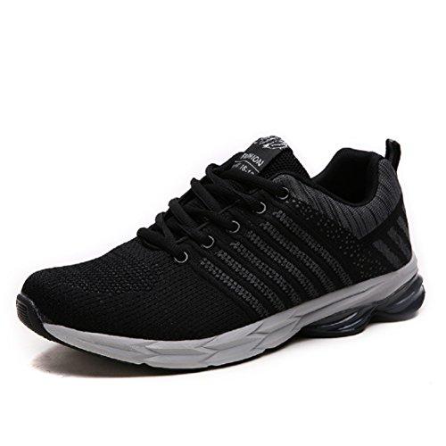 ZapatillasRunningpara Hombre Aire Libre y Deporte Transpirables Casual Zapatos Gimnasio Correr Sneakers Gris 45