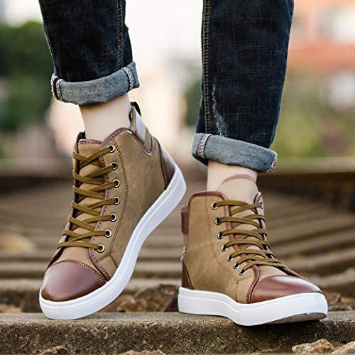 Zapatos de pareja, Covermason Casual par Zapatos Botas High Top Canvas