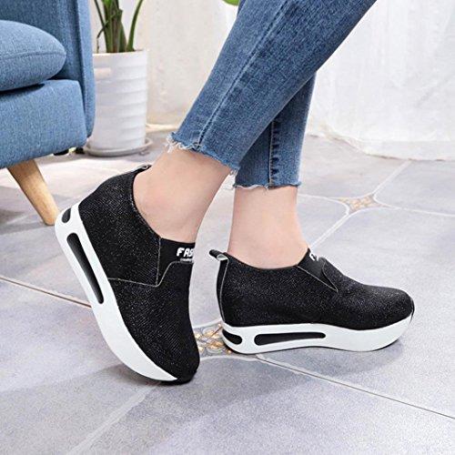 Zapatos deportivos seguridad mujer, Covermason Calzado deportivo casual con plataforma para mujer