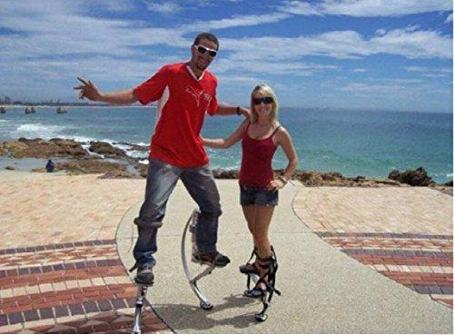 Zapatos Kangaroo para saltar, niños y jóvenes, rango de peso 30 - 50 kg, color negro