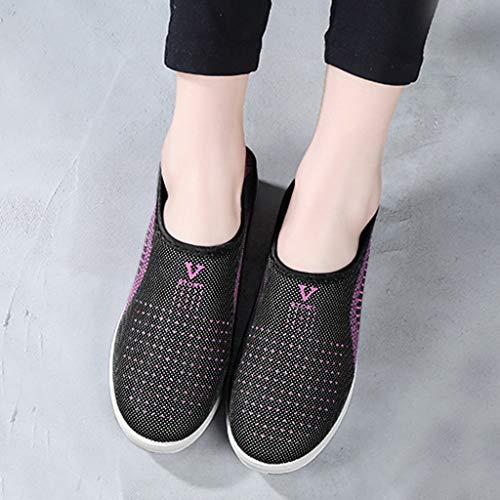 Zapatos Ligeros de Malla Transpirable para Caminar al Aire Libre para Mujeres Zapatillas Trail Running Mujer Cómodos Calzado Plana Casual Mocasines Trekking Senderismo Yvelands(gris,40)