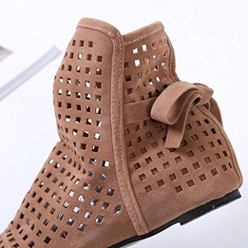 ZODOF Botas de Mujer Planas Ocultas Bajas cuñas Botines de Tobillo Zapatos Casuales Botines Lindos