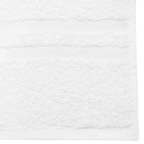 ZOLLNER 6 Toallas de Mano para Lavabo, 50x70 cm Blancas, Medidas
