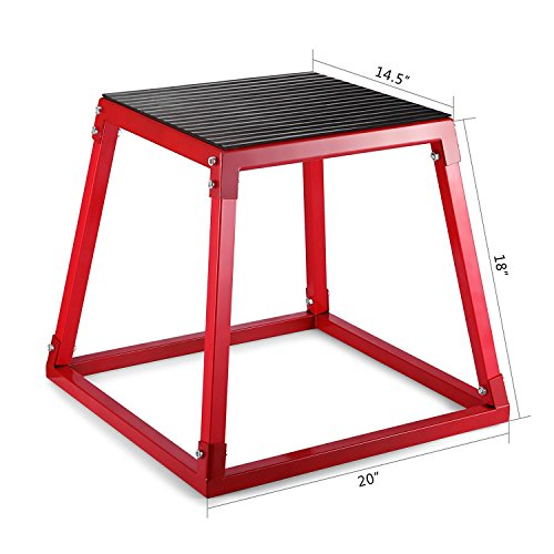 "ztopia pliométrico caja para 12""pliométrico plataforma caja de salto ejercicio 18"" pliométrico salto cajas 24""Fitness Box Set para saltar TRAINING, Box Set (12"",18"",24"")"