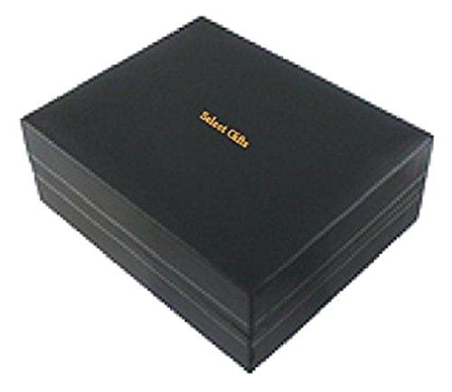 Select Gifts Málaga Ciudad Bandera España Clip de Corbata Gemelos Box Set de Regalo